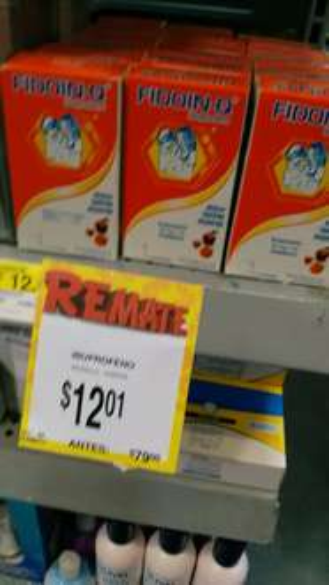 Bodega Aurrerá Escobedo: FIDOIN-Q Ibuprofeno a $12.01