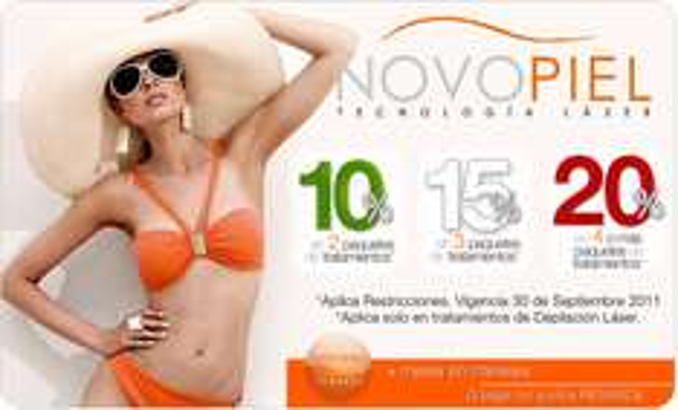 Novopiel: hasta 20% de descuento en tratamientos de depilación laser