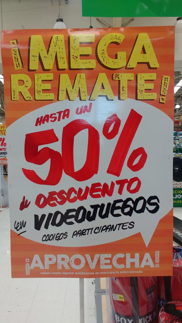 Mega: remate en videojuegos hasta con 50% de descuento