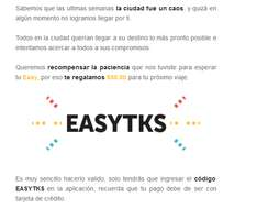 Easy Taxi: regala 50.00 solo ingresar ese cupon