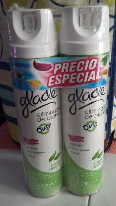 Bodega Aurrerá Costera Acapulco: Glade eliminador de olores frescura campestre 2 x $35.03