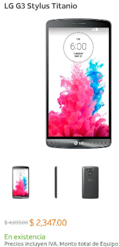 AT&T: LG G3 STYLUS TITANIO