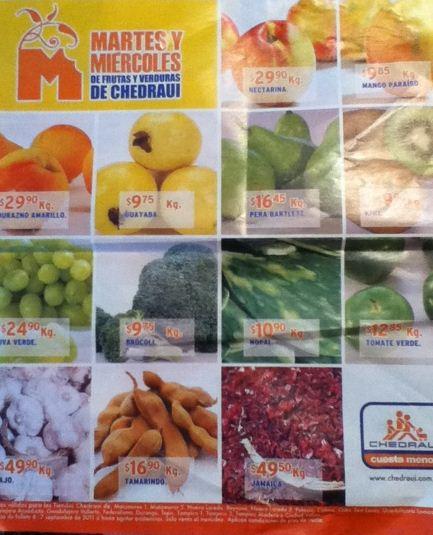 Miércoles de frutas y verduras Chedraui: zanahoria $1.85 Kg, melón chino $4.90 Kg y más