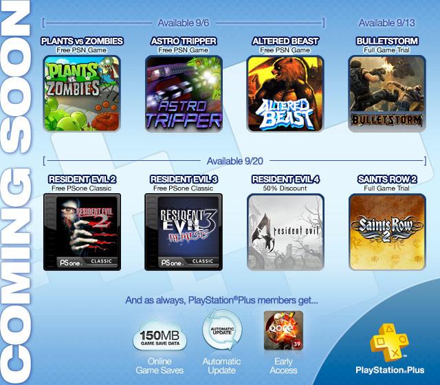 Playstation Plus: Resident Evil 2 y 3 y Plants vs Zombies gratis, 50% en Resident Evil 4 y más