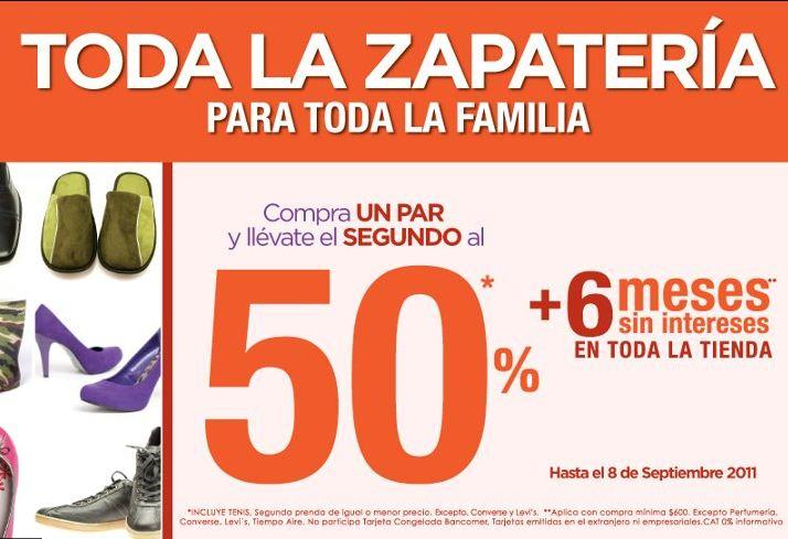 Suburbia: compra un par y el segundo al 50% de descuento en zapatería