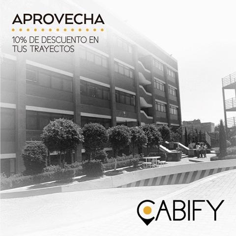 Cabify Toluca 10% de descuento en algunas Universidades