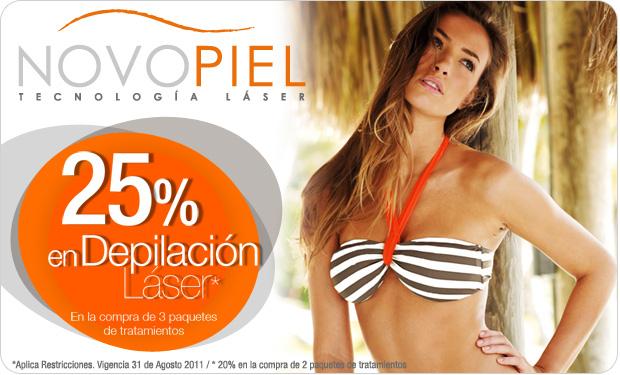 Novopiel: 30% de descuento en faciales y 25% en depilación láser