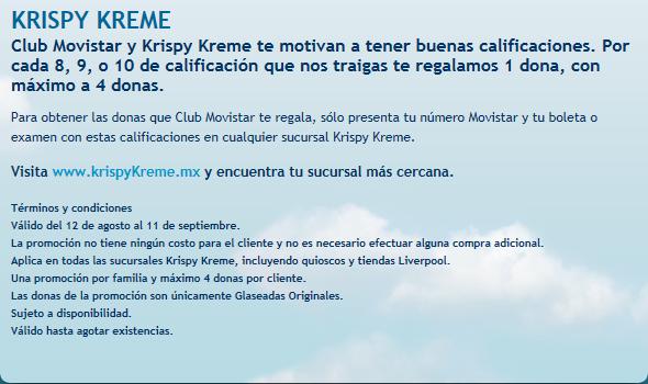 Krispy Kreme: 1 dona gratis por cada 8, 9 ó 10 de calificación para clientes Movistar