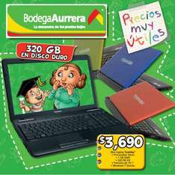 Bodega Aurrerá: Mini laptop $2,790, pañales Suavelastic Max $119, descuentos en alimentos y más