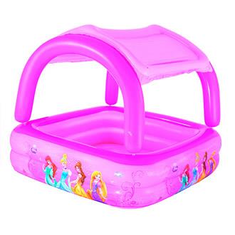 SORIANA.COM . Alberca inflable infantil con techo de las princesas de $999 a $499.50