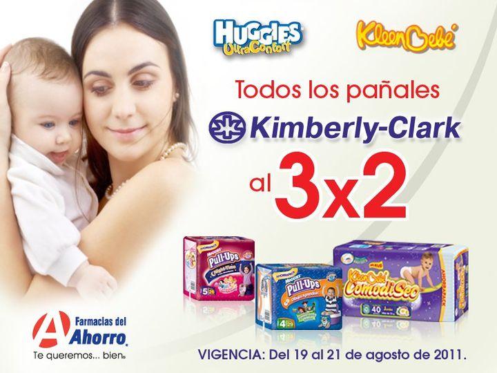 Farmacias del Ahorro: 3x2 en pañales Kimberly-Clark (Huggies, KleenBebé)