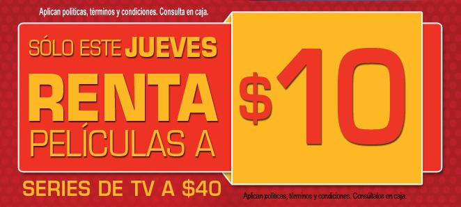(Recordatorio) Blockbuster: este jueves todas las películas a $10 y series a $40