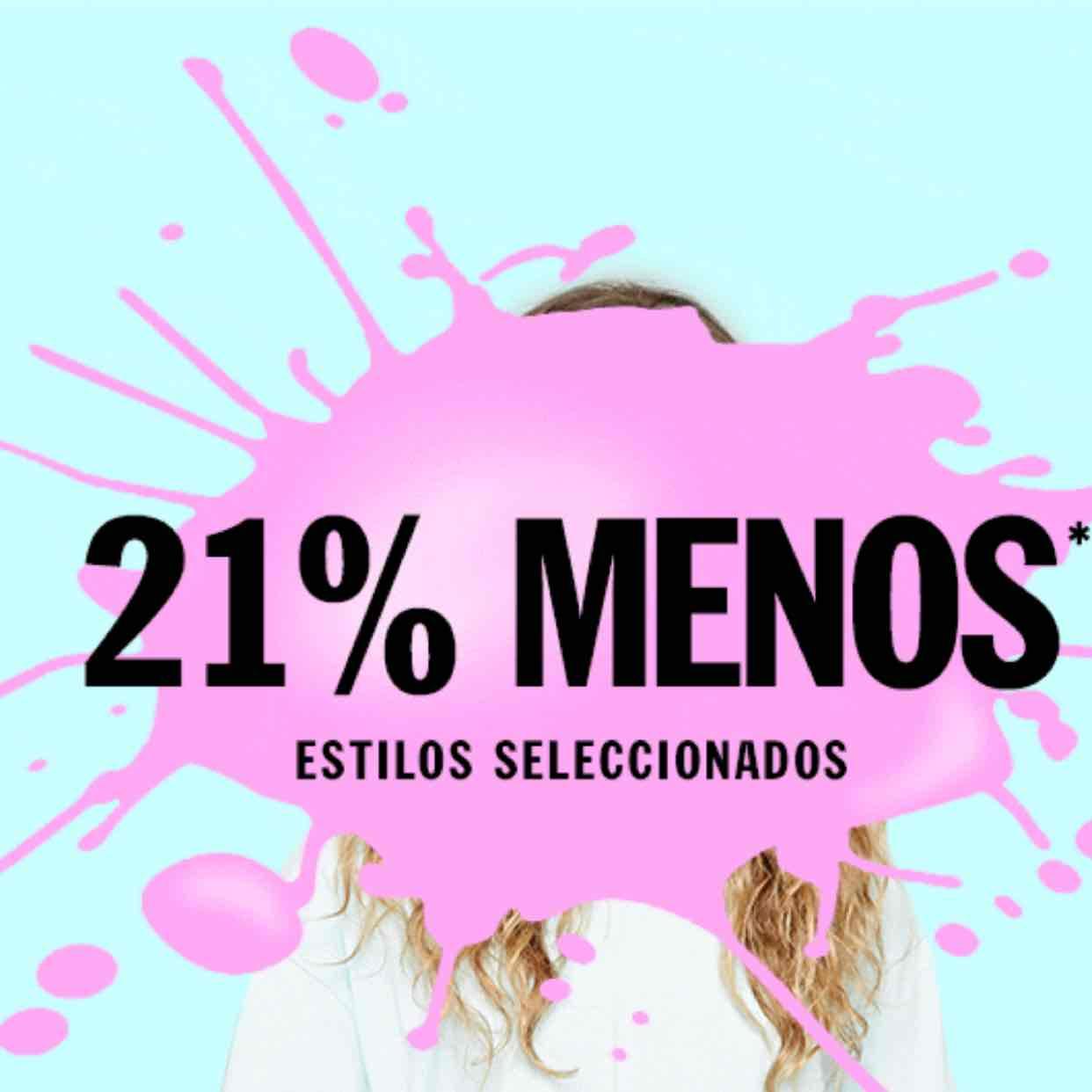 Forever 21: 21% menos en estilos seleccionados