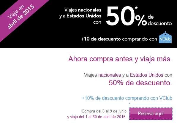 Volaris: promo negra 50% de descuento para abril 2015