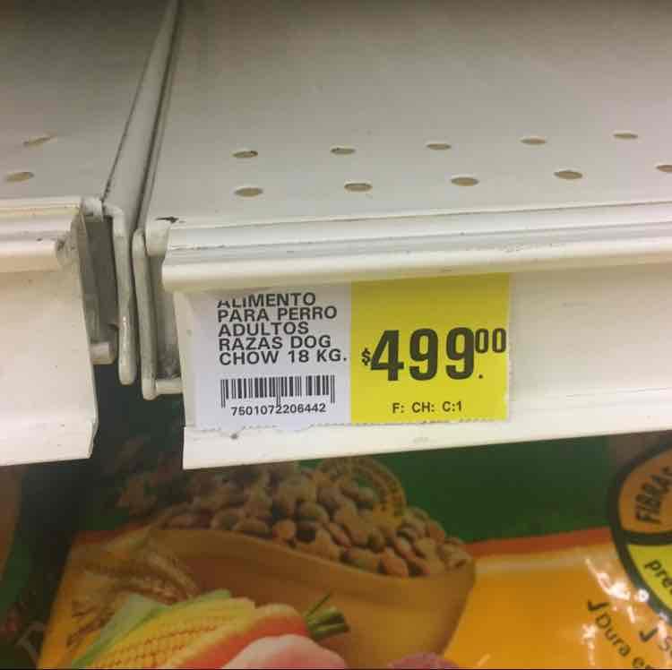 La Comer Villahermosa: Dog Chow 15/18 Kgs $499