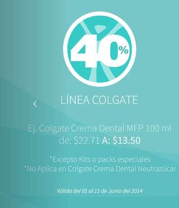 Farmacia San Pablo: 3x2 en Cialis y Flanax, 40% de descuento en marca Colgate, 20% en marca Nido y +