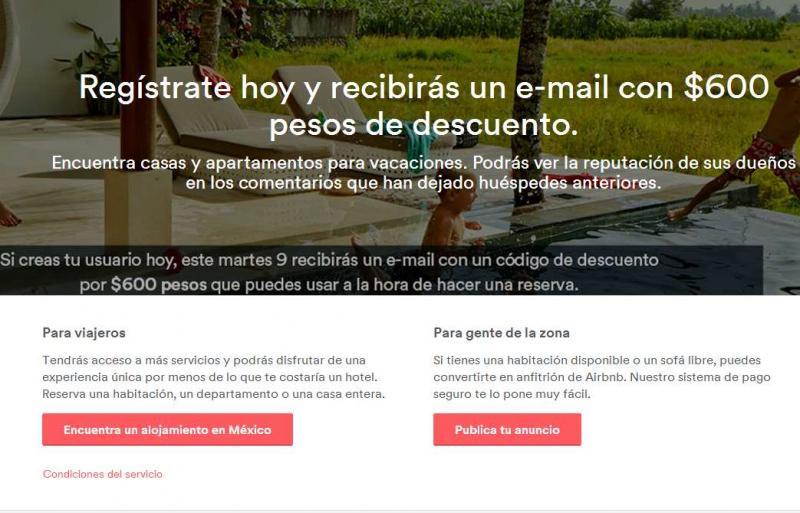 Ofertas de Hot Sale México 2014 en airbnb : $600 de regalo para clientes nuevos