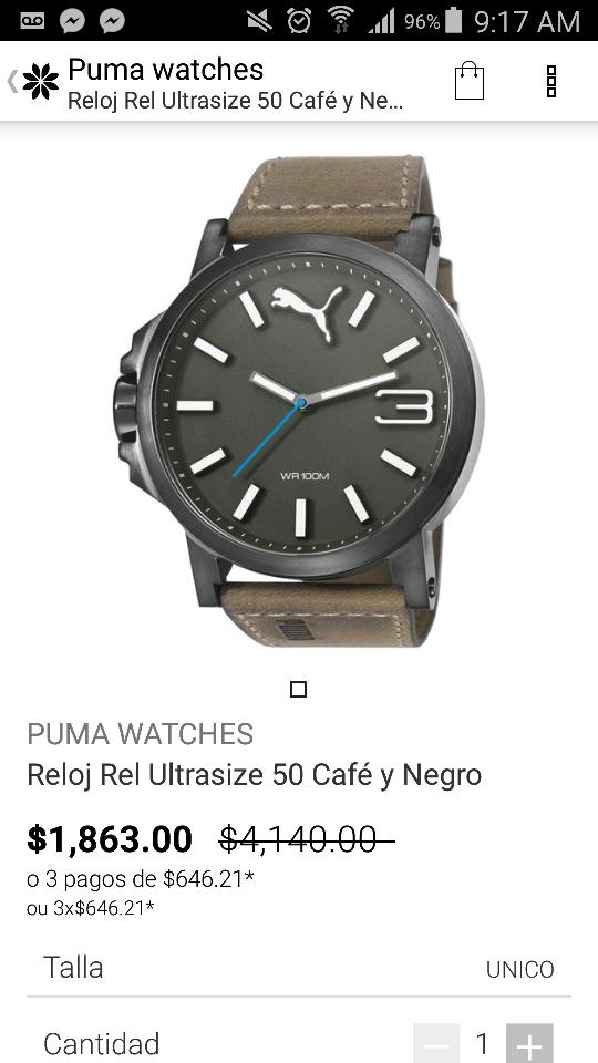 Privalia: Reloj Puma de $4,140.. A $1,863!!!