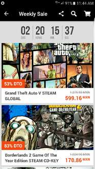 G2A: Weekly sale, grandes descuentos para Steam y Origin