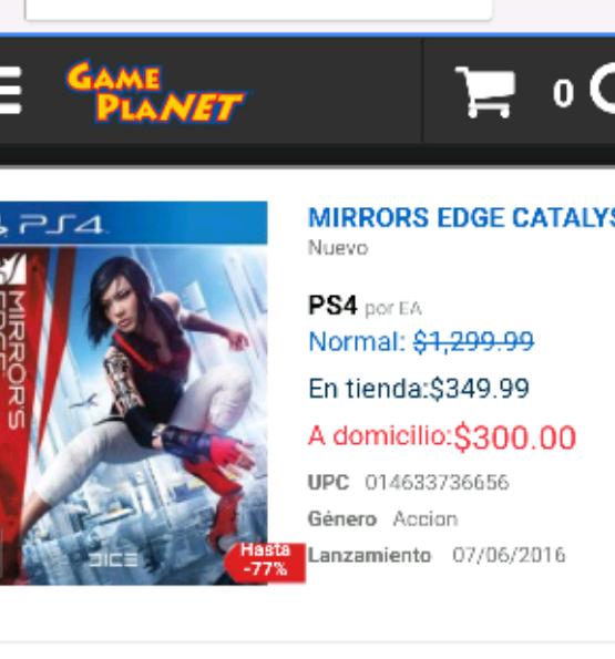 Gameplanet: Mirror Edge Catalyst para PS4