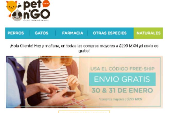 Pet n Go: Envio Gratis compras mayores a $ 299.00