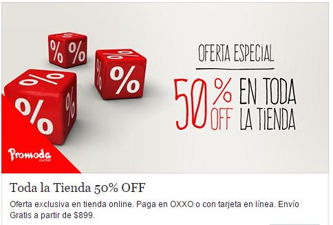Promoda: 50% en toda la tienda - Solo hoy