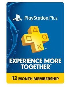 Ebay: Sony PlayStation Plus 1 Year Membership Subscription Card $44 Dolares