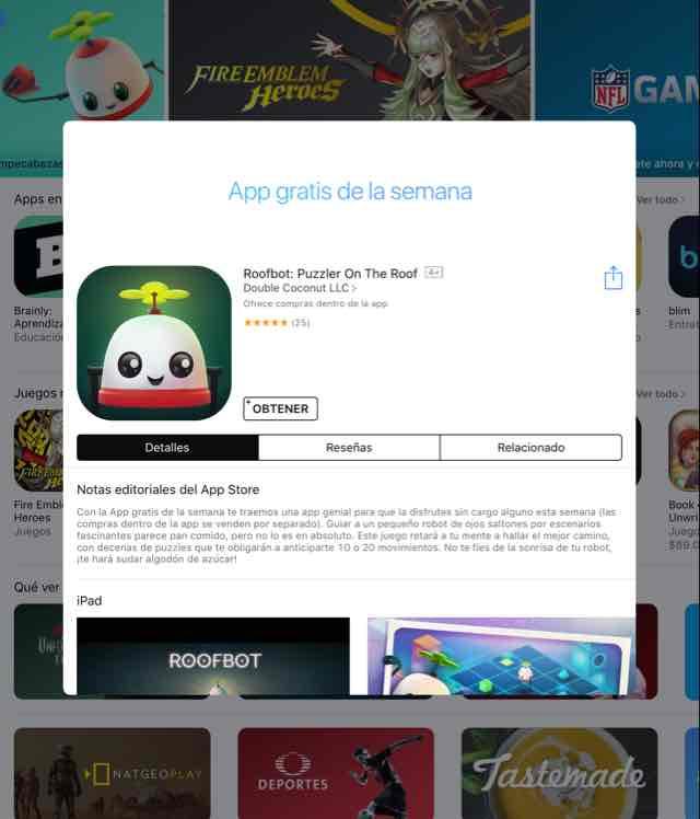 App Store: app gratis de la semana roofbot puzzler on the roof