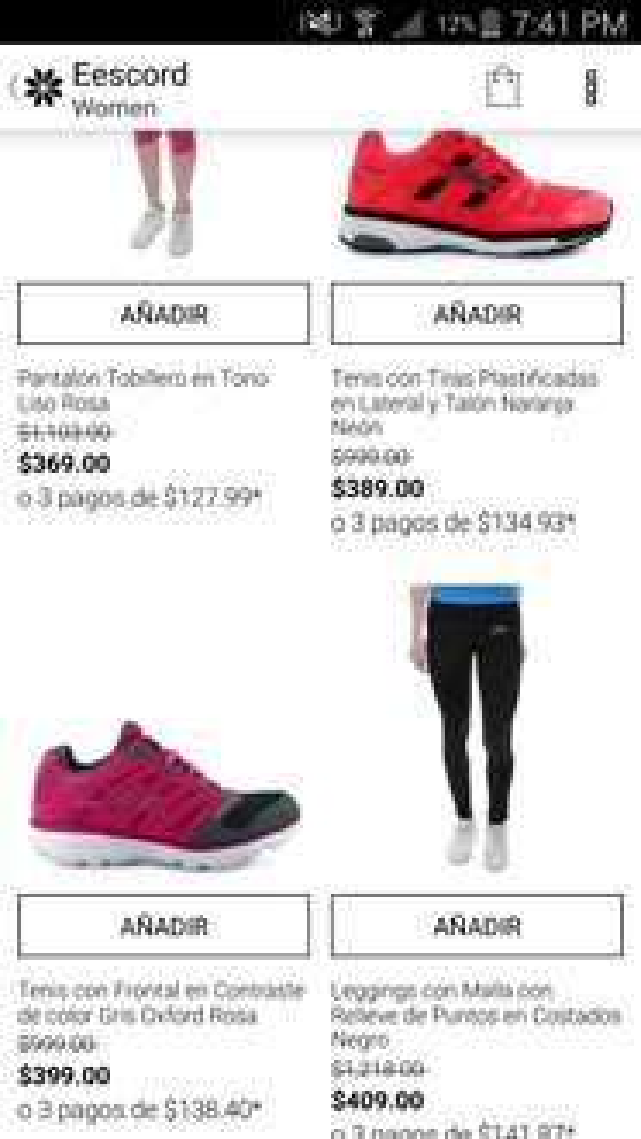 Privalia: campaña Eescord tenis dama y caballero desde $289