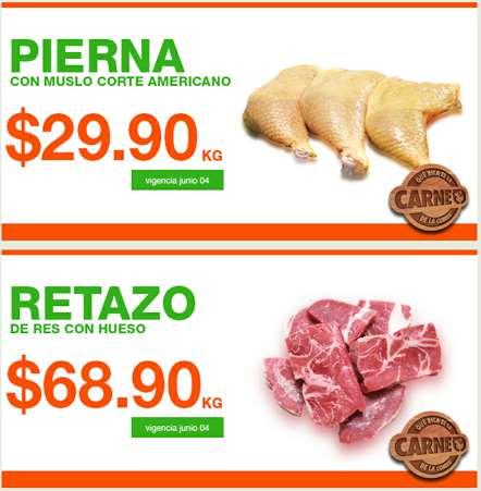 Ofertas de carnes en La Comer junio 3
