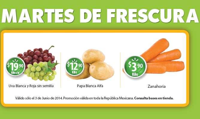 Martes de frescura en Walmart junio 3: uva $19.90 el kilo