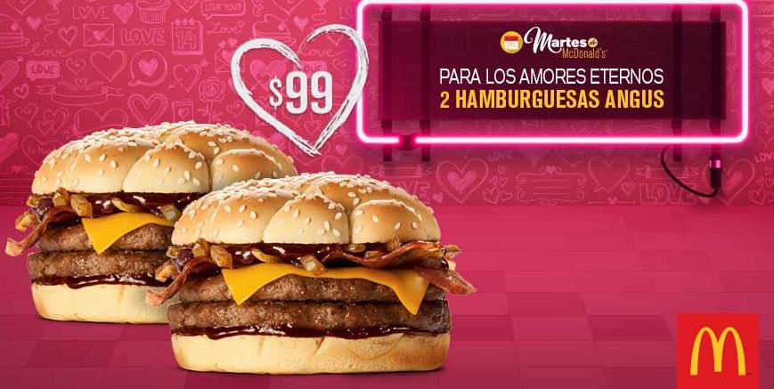 Martes de McDonald's: 2 hamburguesas Angus por $99