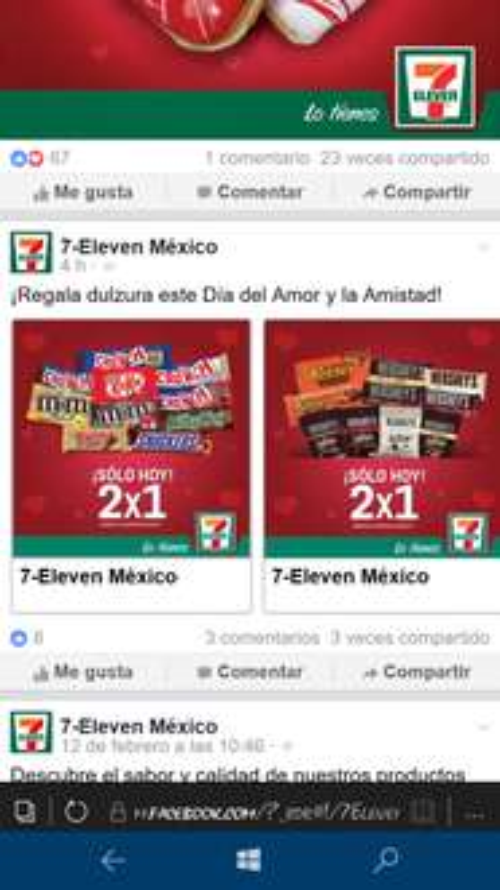 7 Eleven: chocolates al 2x1