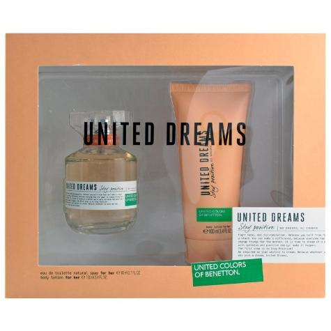 Elektra en línea: set de perfume y fragancia para dama Benetton United Dreams