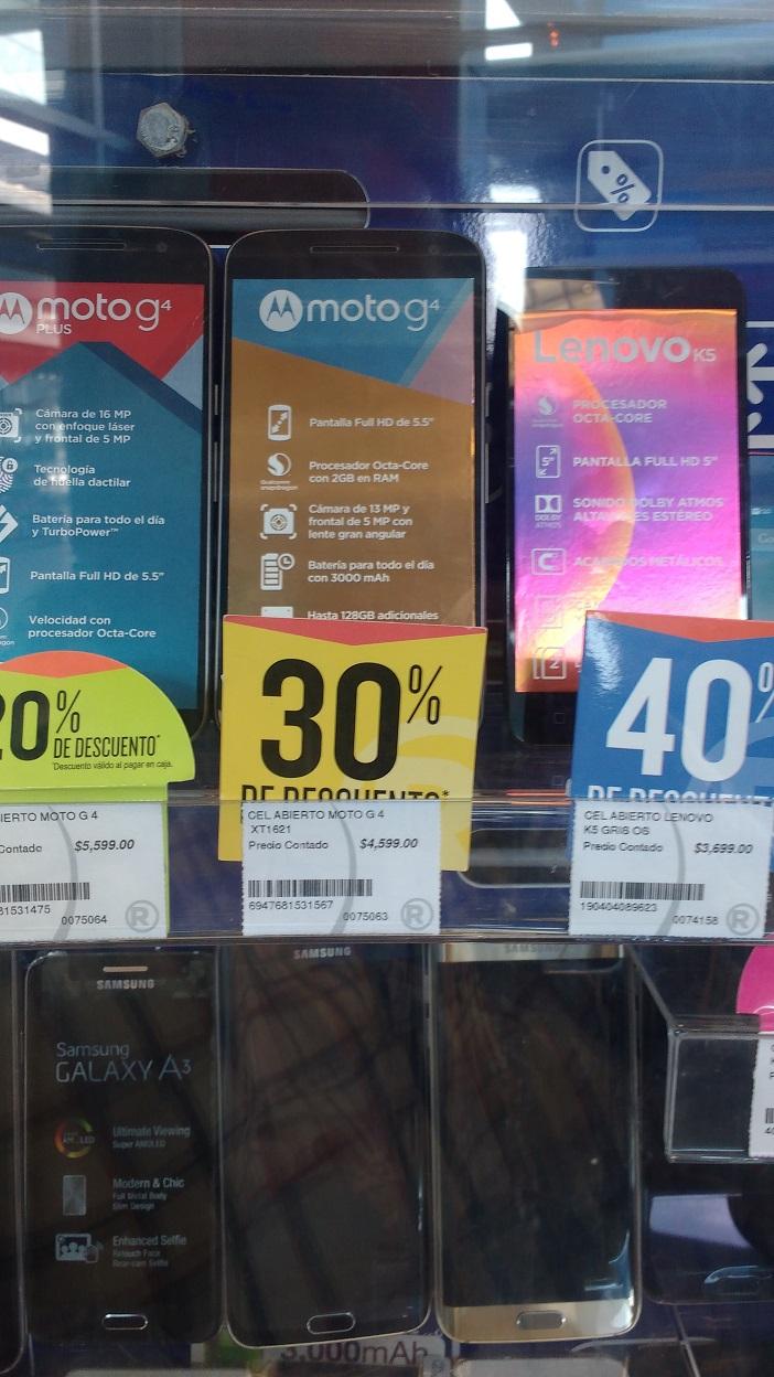 RadioShack: varias liquidaciones celular, G4 plus, G4, Lenovo K5