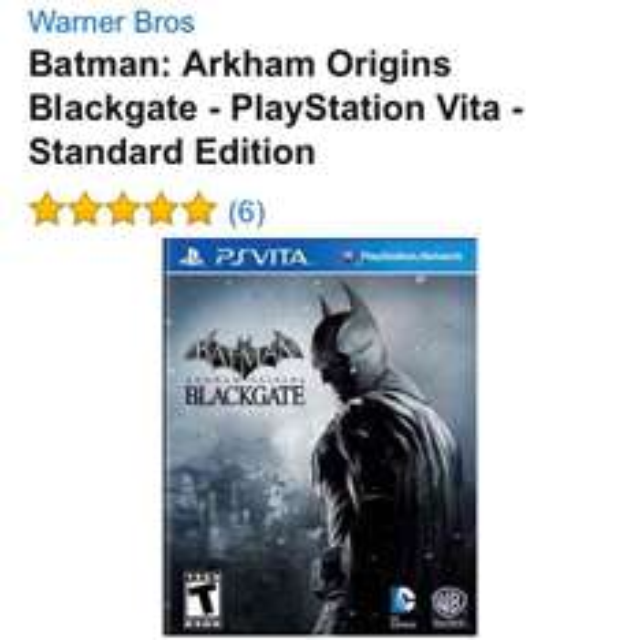 Amazon: Batman Arkham Origins Blackgate PS VITA