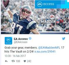 EA Access: Madden 17 Disponible para The vault el 24 de febrero