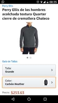 Amazon: Suéter Perry Ellis talla grande