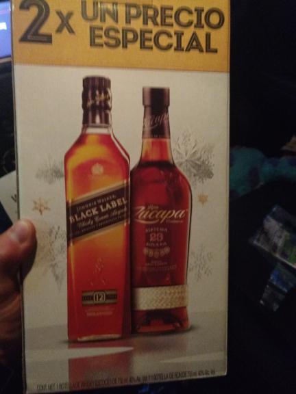 Walmart: Wisky Black Label y Ron Zacapa Centenario