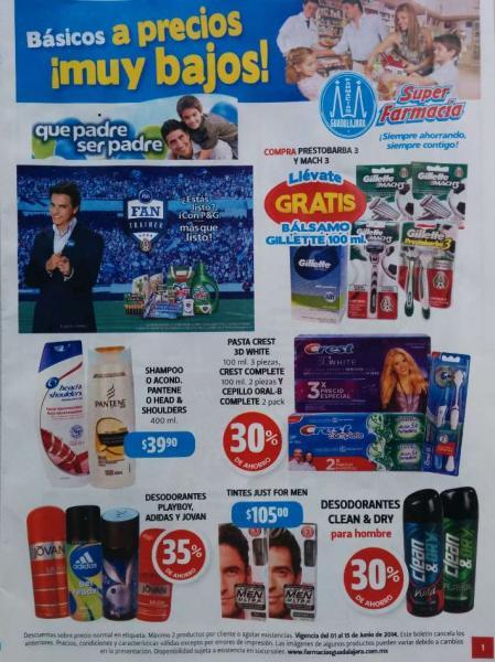 Folleto de ofertas en Farmacias Guadalajara del 1 al 15 de junio 2014