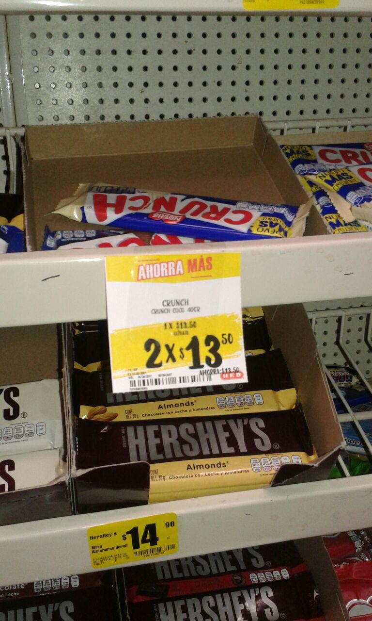 HEB SALTILLO: Chocolates Crunch 2 x $13.50