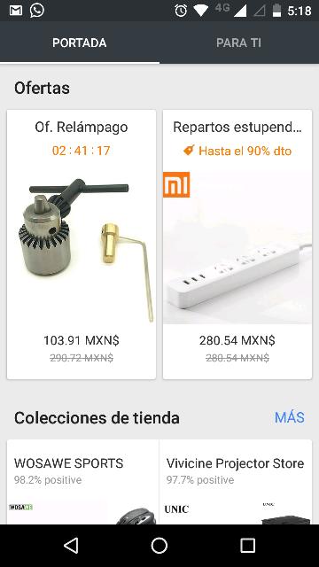 Aliexpress: ofertas en app (ej. Camión bloques Diy a $6.11 USD)