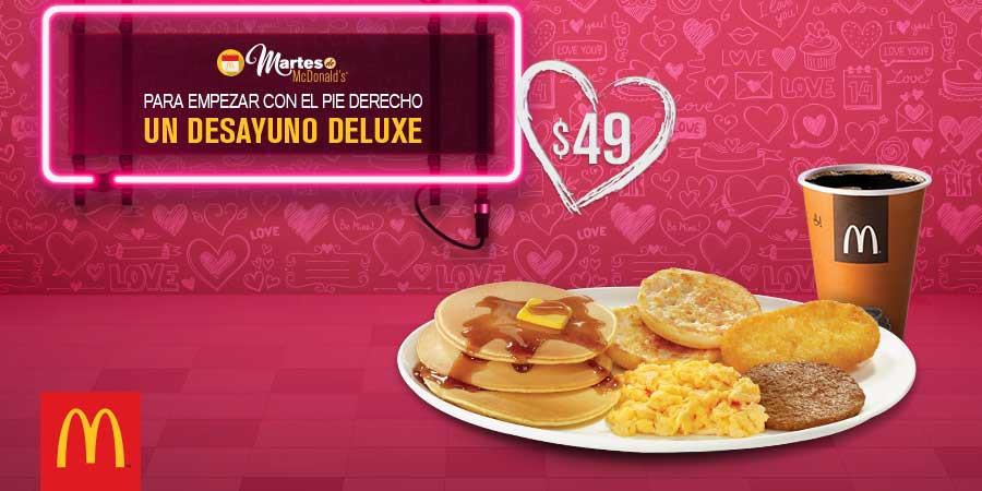 Martes de McDonald's: Desayuno Deluxe por $49