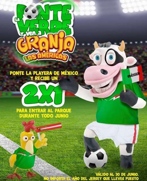 Granja Las Américas, La Feria de Chapultepec y Selva Mágica: descuento o 2x1 con playera de fútbol