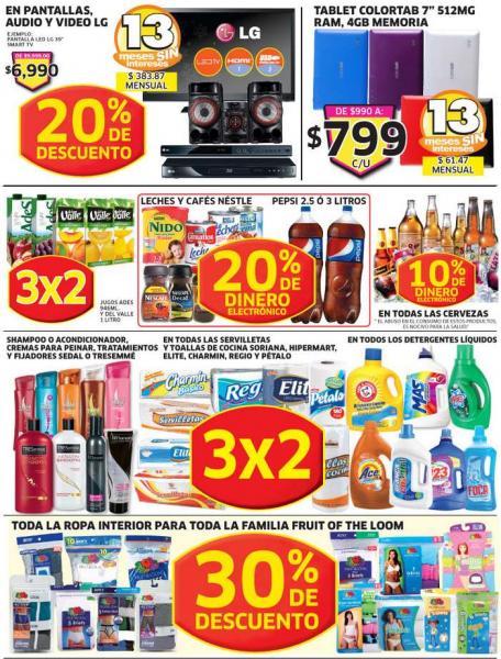 Soriana: bonificación en todas las cervezas, 3x2 en servilletas, detergentes y más