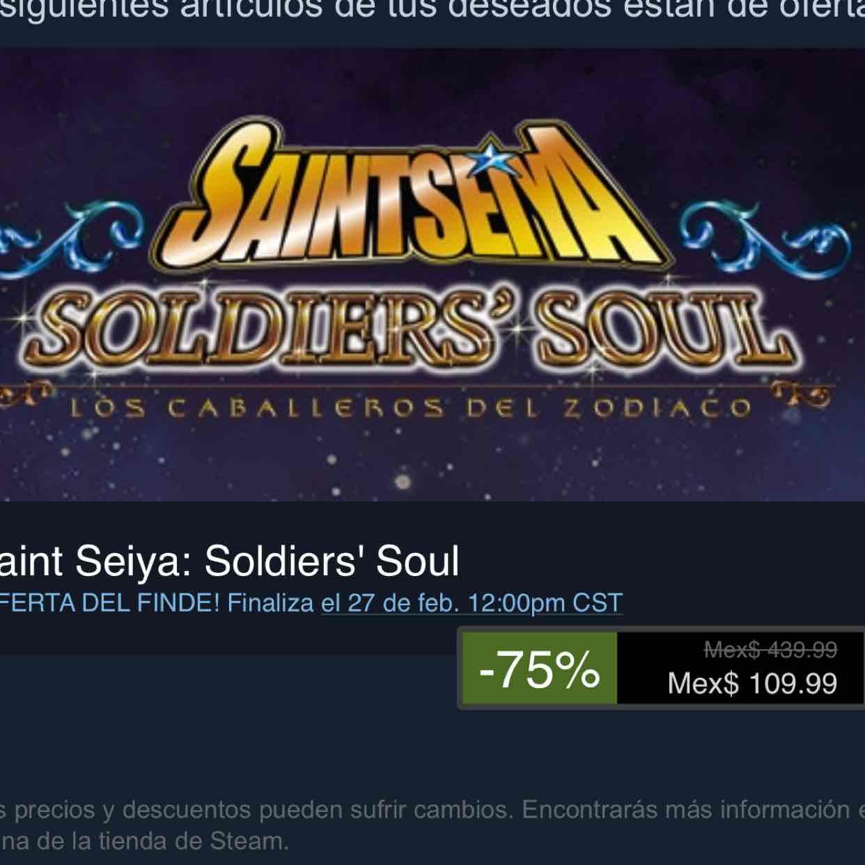 Steam: Saint Seiya: Soldiers' Soul para PC