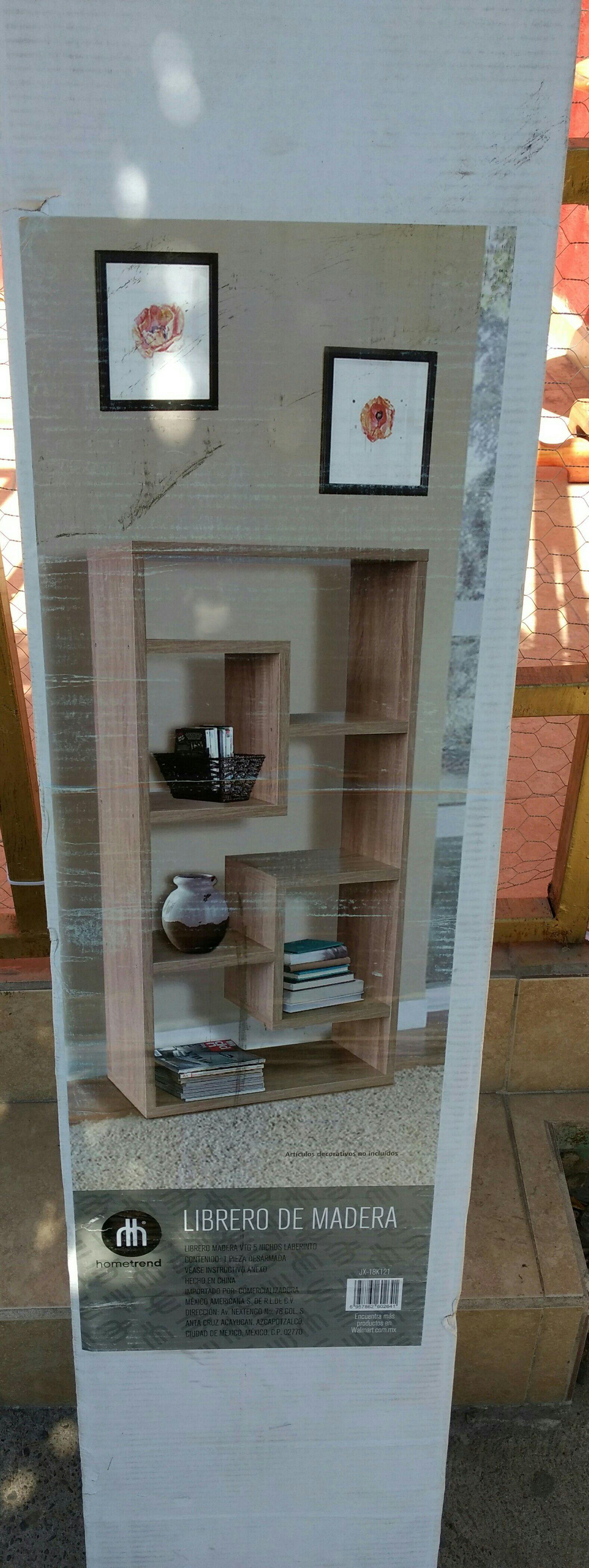 Walmart Culiacán: librero de madera 5 nichos laberinto Home Trends a $328.01