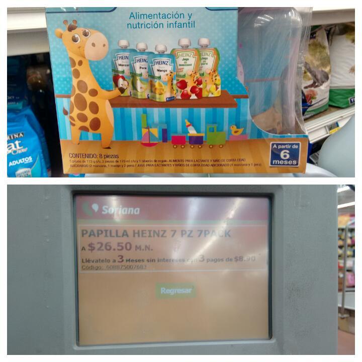 Mercado Soriana :Papillas Heinz y biberón en $26.50 y más ofertas