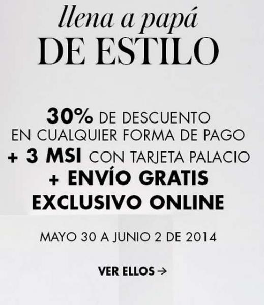 Palacio de Hierro: 30% de descuento en ropa, calzado y accesorios de hombre