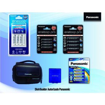 Linio: Paquete de Pilas Eneloop Pro Recargables AA y AAA con Cargador Panasonic -Negro